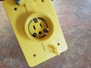 60W47 Molex / Woodhead, Nema 5-15R Watertight, Flip Lid  60W47