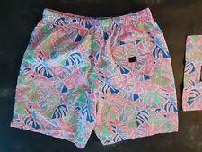 Mens Vineyard Vines Swim Trunks Board Shorts Sz S W/bag Tropical Surf
