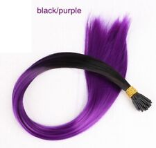 """22"""" Hair Extensions Synthetic Colourful Feather Micro 1G Pack 10 Beads Included"""