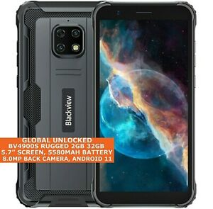 """BLACKVIEW BV4900S RUGGED 2gb 32gb Waterproof 5.7"""" Dual Sim Android 11 4g LTE"""