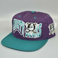 Anaheim Mighty Ducks NHL Vintage 90's GCC The Wave Snapback Cap Hat - NWT