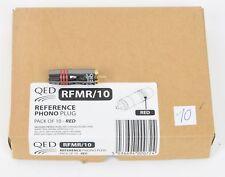 QED RFMR/10 - NEU-Auslauf-High End Cinch-Stecker ROT 10-er Pack UVP war € 135,00