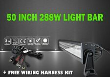 "LED LIGHT BAR KIT 50"" 288w LED Light Bar Flood Spot Combo Car Work Lamp Truck"