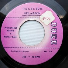 C & C Boys R&B popcorn soul VG++ DUKE 45 Hey Marvin b/w You Stole My Heart F2901