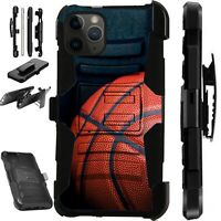 For iPhone 11/X/8/7/6 PRO MAX PLUS Holster Phone Case Cover BASKETBALL LuxGuard