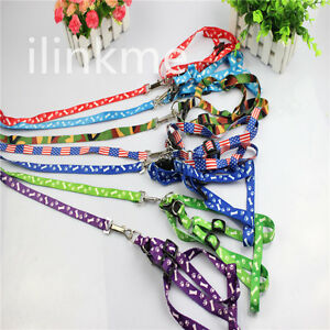 Adjustable Small Dog Pet Puppy Cat Nylon Harness With Lead Leash Traction Rope