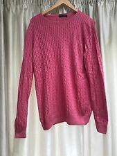 Chester Barrie London pink knitted cable-knit jumper size XL / UK 42