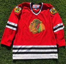 EUC VTG Red CCM Chicago Blackhawks NHL Hockey Stitched Jersey XL