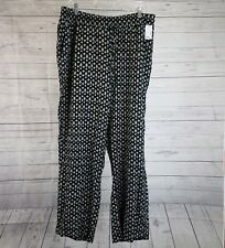 Maurices Womens Pull On Pants Sz 1 Plus Size Black White