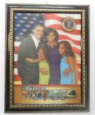 "Obama -  3D ""The First Family Portrait"" Picture   as shown (Black w/ Gold Frame)"