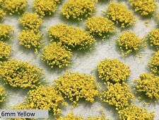 6mm Realistic Self-Adhesive Flowering Tufts - Wild Spring - Yellow