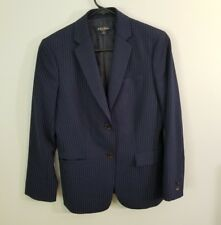 Brooks Brothers Women's Classic Fit Blazer Lined Size 4 Navy Pinstripe