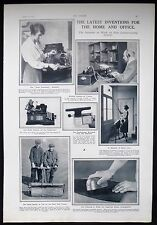 INVENTIONS SAREL GOLF COURSE ROLLER AUTO COUNTANCY MACHINE WORDOMETER ETC 1923