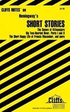 CliffsNotes Hemingway's Short Stories, Roberts, James L., Good Condition, Book