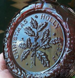 VINTAGE RUBY RED 1973 WHEATON CHRISTMAS HOLLY LIMITED EDITION DECANTER ORG BOX