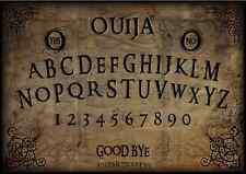"WOODEN 16""x11""OLD PARCHMENT"" OUIJA SPIRIT BOARD & PLANCHETT GHOST MAGIC"