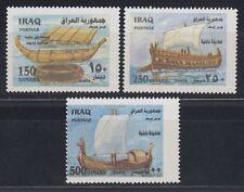 Irak Iraq 2002 ** Mi.1699/01 Schiffe Ships Boote Boats Galeere Segelboot Guffa