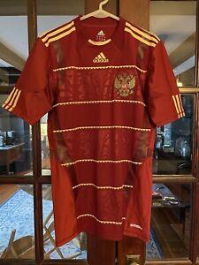 RARE ADIDAS SAMPLE Russia 2011 2012 Soccer Jersey Large Techfit World Cup Shirt