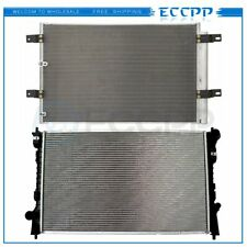 AC Condenser&Radiator Assembly Fits 2007-2010 Ford Edge 3.5L 3656+2937