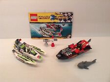 Lego Jagged Jaws Reef 8898 Boat Racers w Shark Complete w Manual, No Box