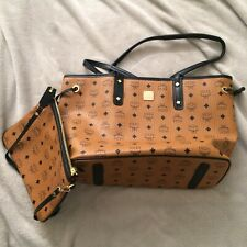 authentic mcm medium reversible shopper tote bag
