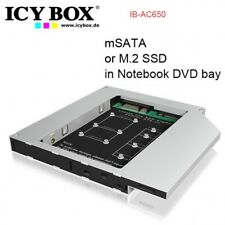 ICYBOX IB-AC650 Adapter for a mSATA or M.2 SSD in Notebook DVD bay
