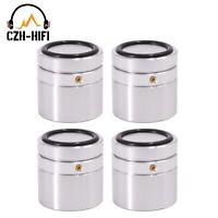 4pcs Audio Isolation Feet 40x40mm Solid Aluminum Amplifier Speaker Stand Base