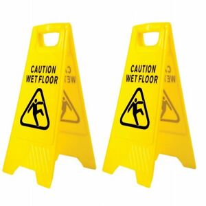 Wet floor Sign 'A' Frame Safety Signs, (Pack of 2)