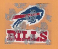 BUFFALO BILLS LOGO & SCRIPT LARGE 4 Inch PATCH Unused Unsold Stock