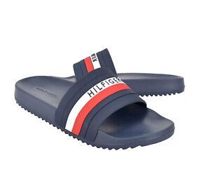 Men's Tommy Hilfiger Casual Designer Striped Slippers Riker Slide Sandals