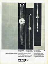 Publicité Advertising 018  1961  les montres Zenith prix observatoire