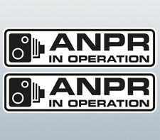ANPR in Operation Warning Sticker / ANPR Warning Decal 147x40mm Pair