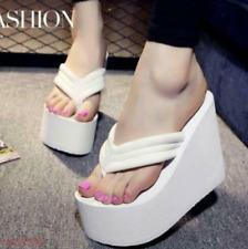 High Heel Womens Flip Flops Sandals Platform Wedges Slippers shoes Thong us 7