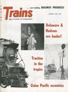 TRAINS MAGAZINE,1/59:CUBA INTERURBAN;C&NW BI-LEVELS;D&H ORE LINE;UP ODDBALL ENGS
