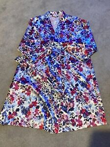 Ladies Debenhams Floral Kimono Dressing Gown - Size 12-14 - Worn Once!