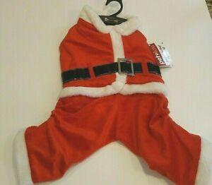 Pet Luv Santa Claus Suit Dog Holiday Pet Apparel Costume NEW Medium M Red White