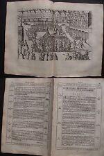 Hogenberg: Hinrichtung von Gosson in Arras 1578 original Kupferstich