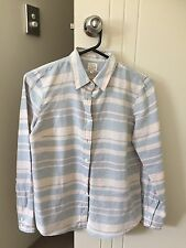 NWT JCrew Striped Women's Button Down Shirt Linen/Cotton - Size Small