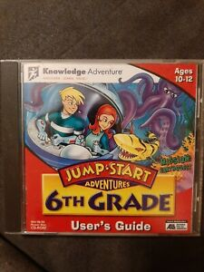 JUMP START Adventures 6th Grade MISSION EARTHQUEST PC CD-Rom Ages 10-12