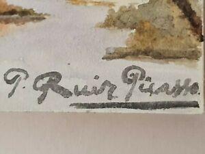 Pablo Picasso Original vintage rare art nice painting hand signed No print NR !!