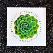 2017USA Global Forever Rate - Green Succulent - Single Mint (international sase)