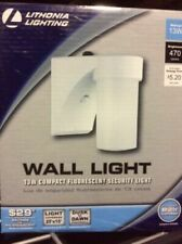 Lithonia Lighting 13W Dusk Dawn Compact Fluorescent Security Wall Lights NEW O/B