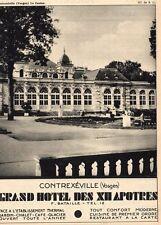 CONTREXEVILLE CASINO GRAND HOTEL DES XII APOTRES BATAILLE PUBLICITE 1932 AD