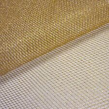Gold Metallic Mesh Net Fabric *Per Metre