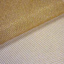 Gold Metallic Mesh Net Fabric *Per Metre