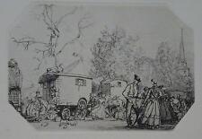 Auguste Brouet campement d'un cirque eau forte P97