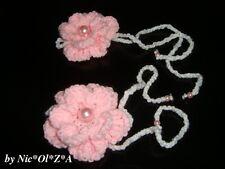 INFANT BABY GIRL TODDLER HANDMADE CROCHET 3D FLOWERS BAREFOOT 0 -6 MONTH