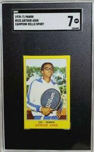 1970 Panini Campioni Dello Sport #333 Arthur Ashe Rookie Card RC SGC 7 NM POP 1