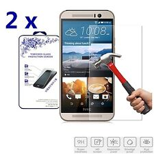 2x For HTC One M9 HD Premium Clear Tempered Glass Screen Protector Film Guard