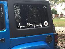 JEEP WRANGLER HeartBeat EKG CHOOSE Your Color window body STICKER Decal JK  TJ